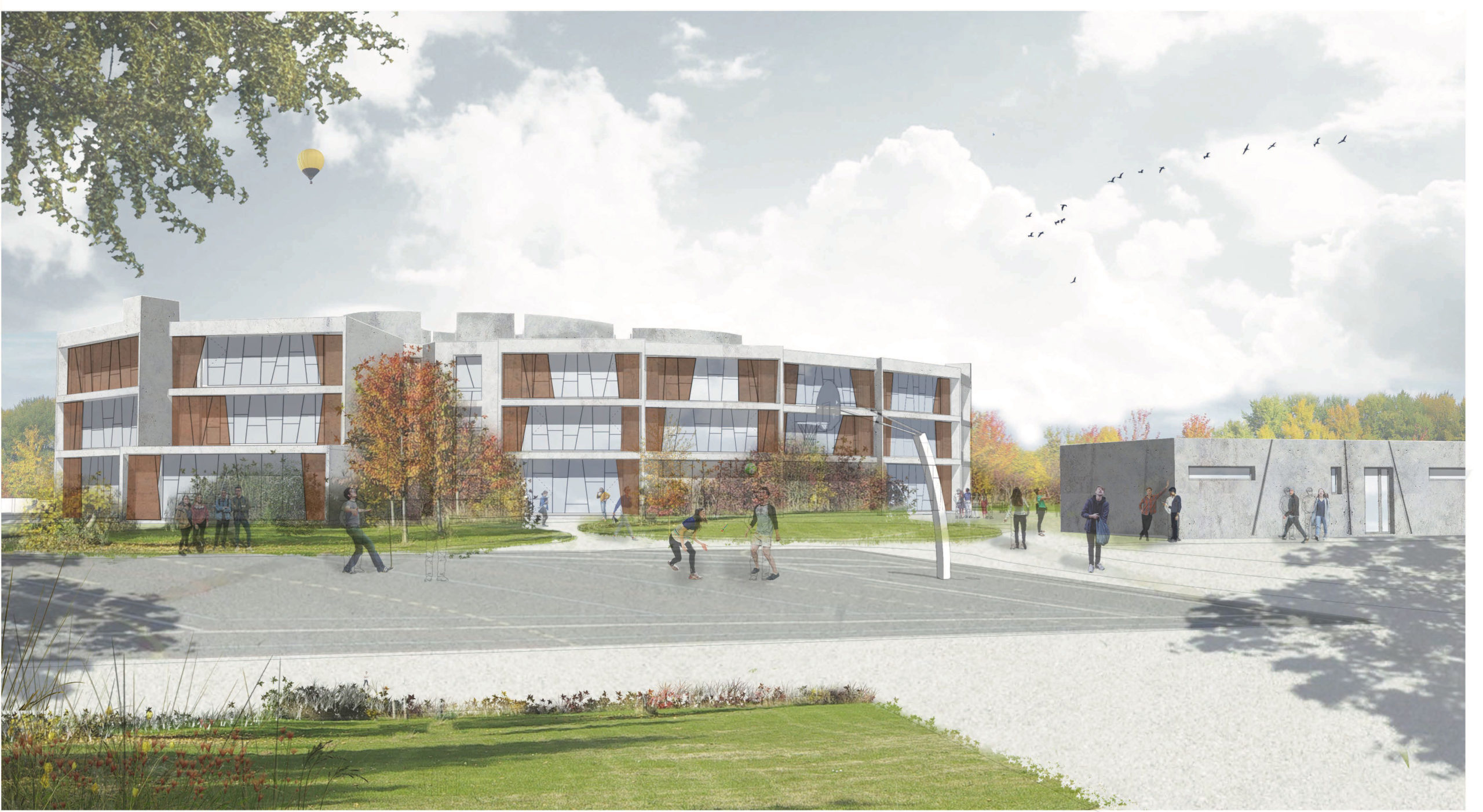 Projet de lycée Sainte-Marie Lyon à Meyzieu soutenu par le MEDEF Lyon-Rhône pour l'attractivité du territoire
