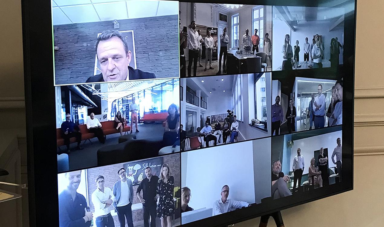 Discours de Laurent Fiard en visioconférence lors de l'afterwork chez les adhérents du MEDEF Lyon-Rhône