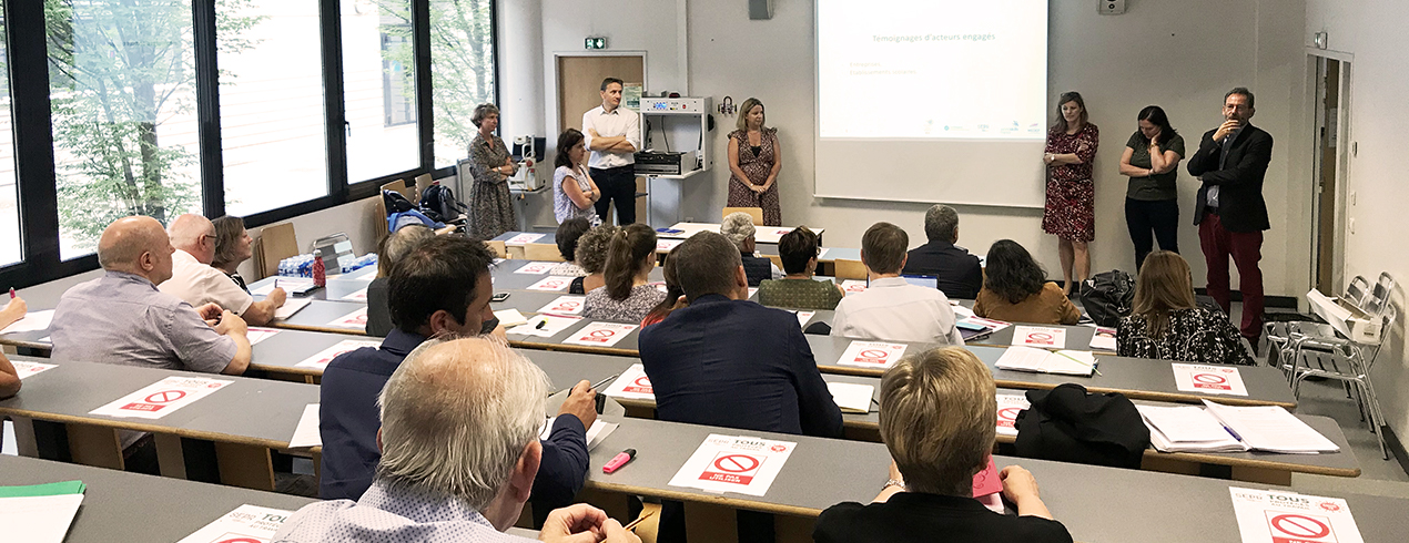 Réunion bilan des actions Ecole-Entreprise 2019 avec des témoignages d'entreprises engagées