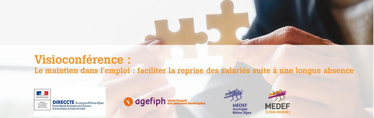 visioconférence sur le maintient dans l'emploi des personnes handicapées, 28 juillet 2020