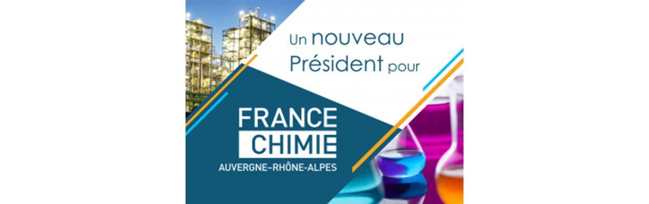 France Chimie Auvergne-Rhône-Alpes a élu son nouveau Président : Jérôme Geneste