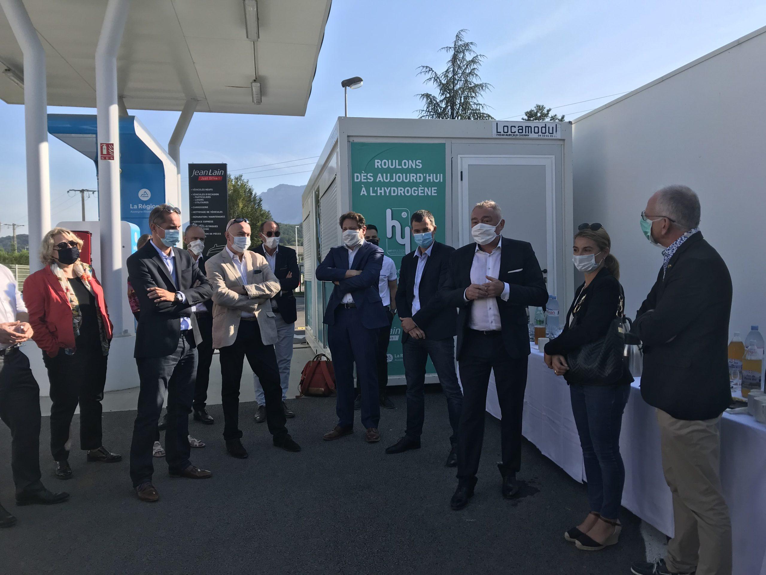 Visite de la station Hydrogène de Chambéry par des adhérents du MEDEF Lyon-Rhône et du MEDEF Auvergne-Rhône-Alpes le 11 septembre 2020