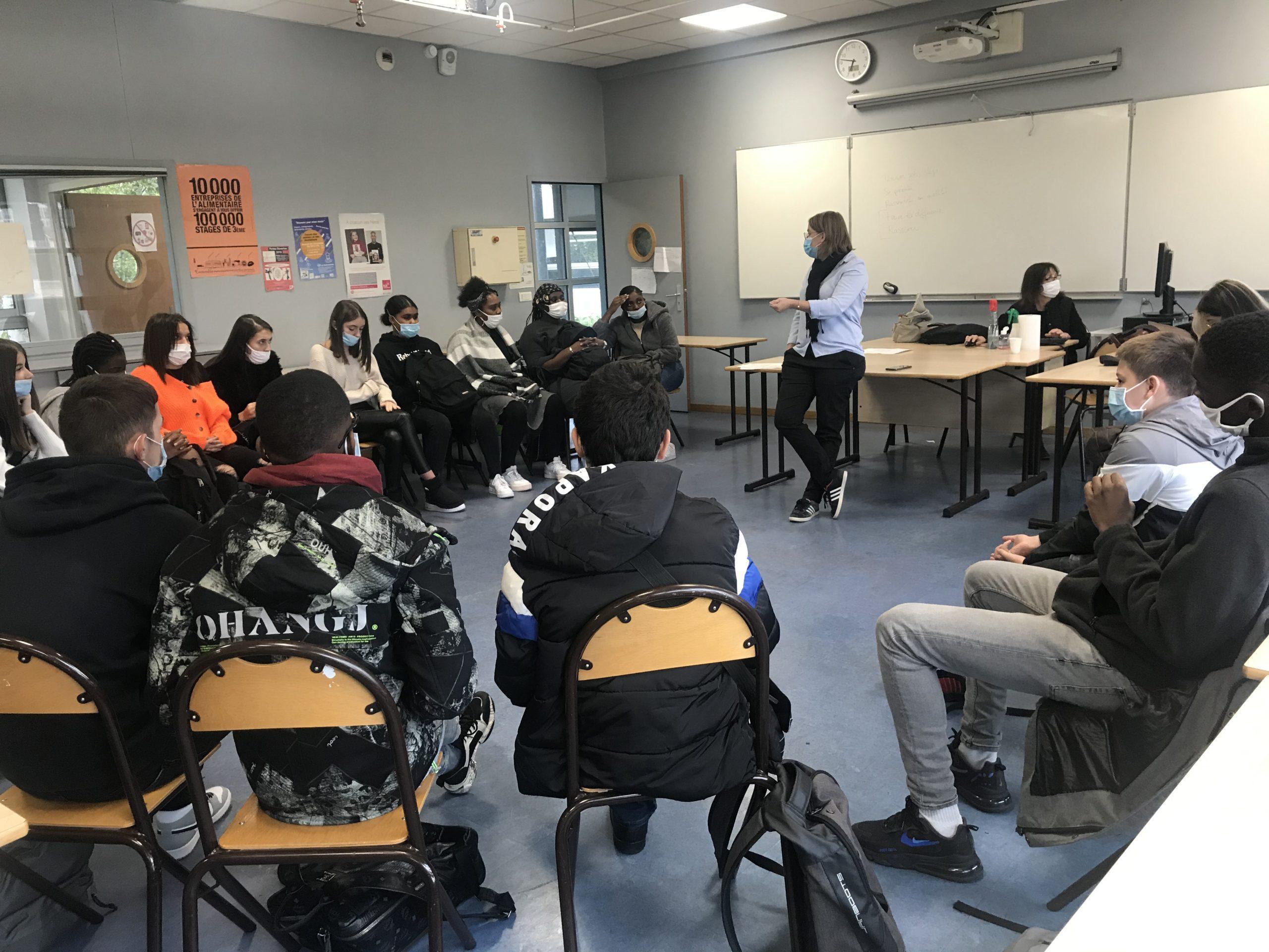 Semaine Ecole Entreprise 2020 - du 5 au 9 octobre, des chefs d'entreprises sont allés à la rencontre de lycéens
