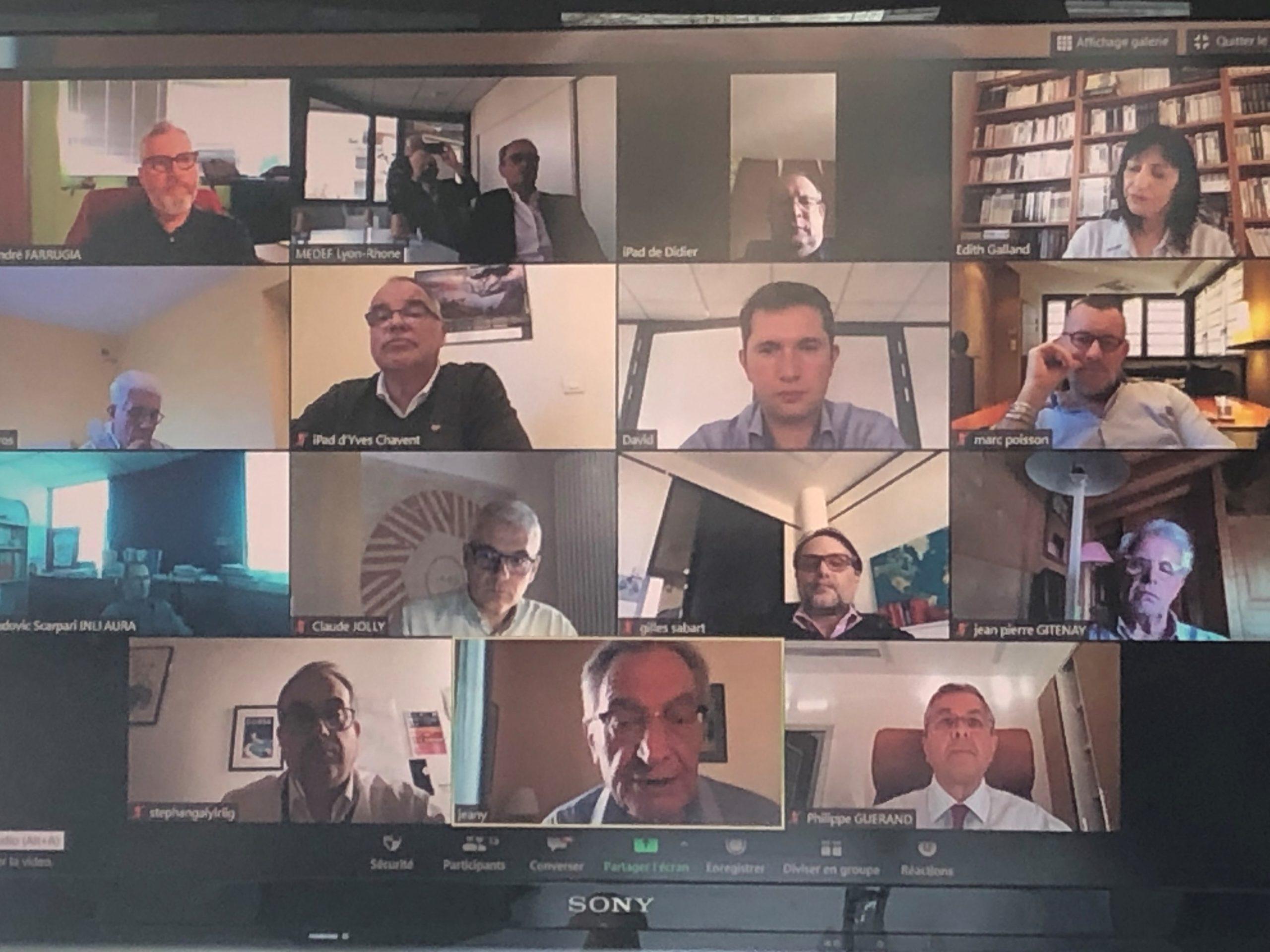 Gilles Courteix, Président du MEDEF Lyon-Rhône, a souhaité rencontrer les chefs de fil des 600 mandataires du territoire, engagés et militants pour la cause patronale